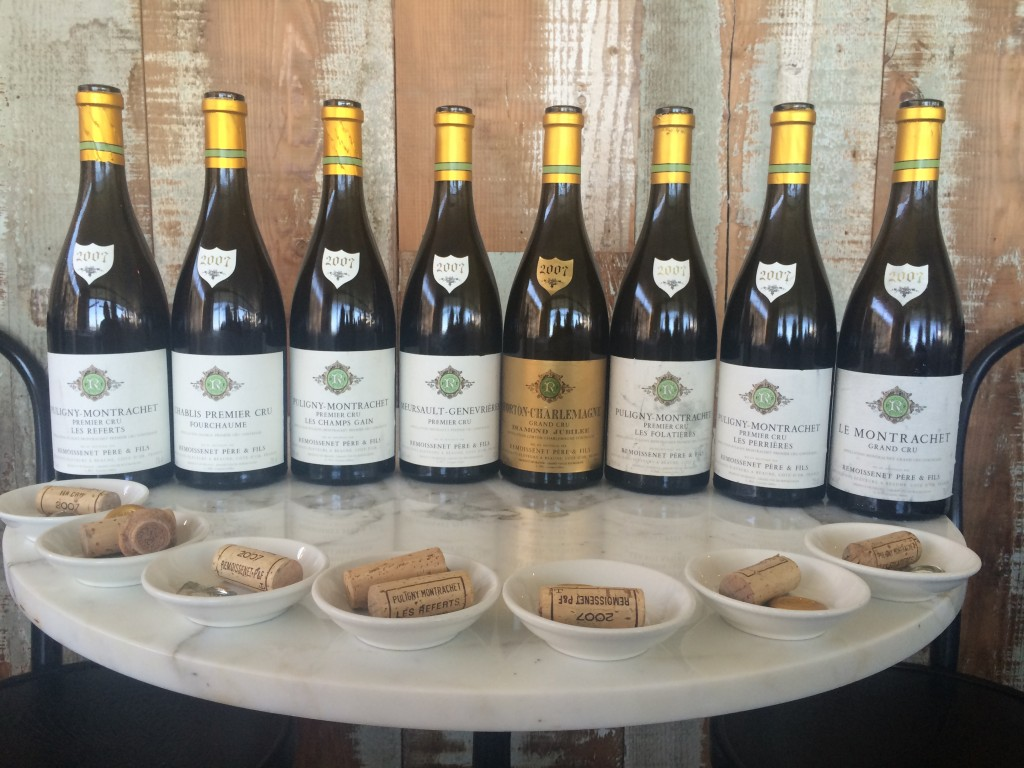 The amazing line-up of 2007 White Burgundies from Remoissenet Pere et Fils